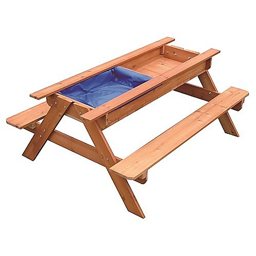 Sand & Water Picnic Table Kids Playhouse Outdoor Play Toy ...
