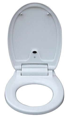 Automatic toilet seat sensor operated touchless white for Touchless toilet seat