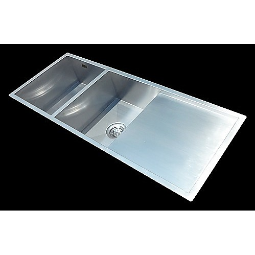 Plastic Utility Sink With Drainboard : ... Handmade Stainless Steel Undermount / Topmount Kitchen Laundry Sink